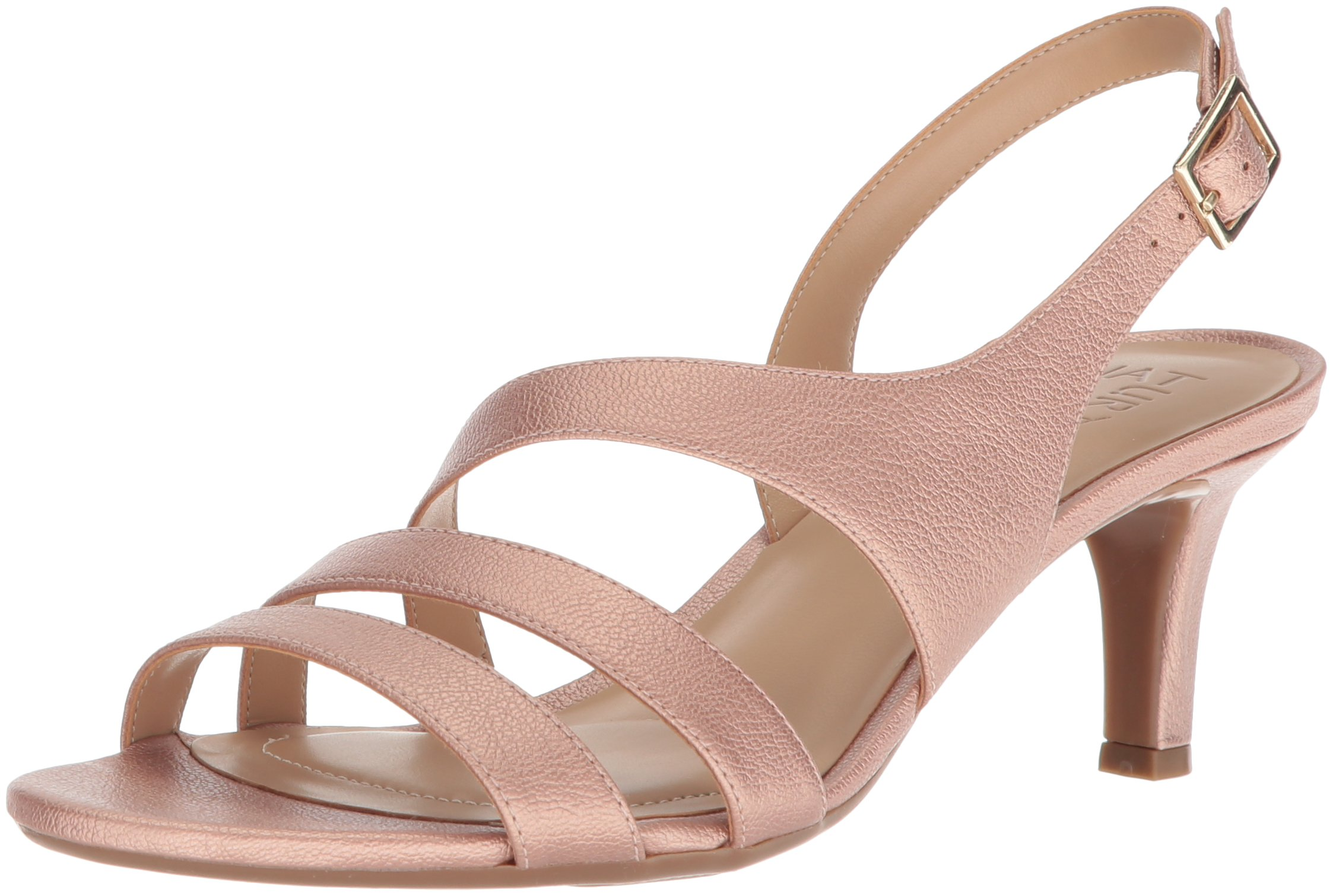 Naturalizer Women's Taimi Heeled Sandal, Rose Gold, 8 N US by Naturalizer