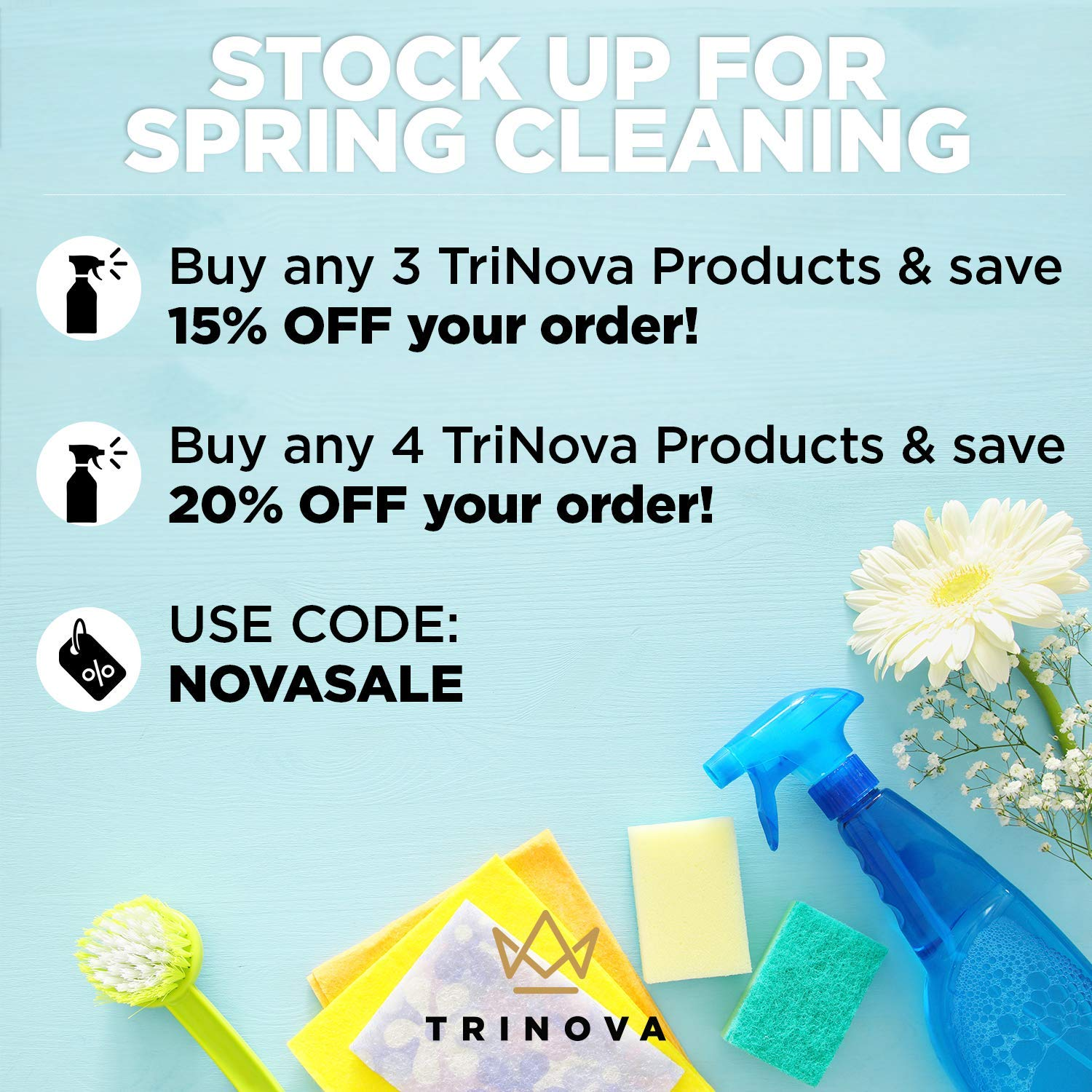 TriNova Shoe Cleaner Kit - Tennis, Sneaker, Boots, More - Premiun Cleaning to Remove Dirt and Stains. Free Brush 8OZ by TriNova (Image #4)