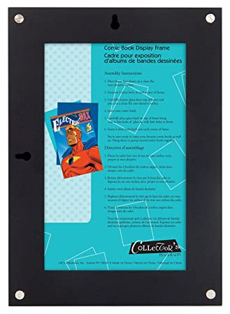 amazoncom mcs 675 inch x 1037 inch comic book display frame black 40943 comic book picture frame