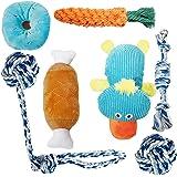 Toozey Valpleksak – paket med 7 hållbara hundleksak för valp/små hundar. Valp tandsprickning leksak hund rep tuggleksak…