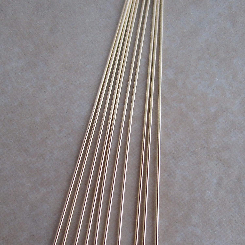 14kt Gold Filled Headpins 2 Inch 24 Gauge 10