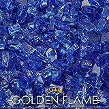Golden Flame® 10-Pound ** Fire Glass ** 1/4-Inch Cobalt Blue