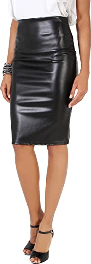 KRISP Women Office Skirt Bengaline Belted Smart Pencil Midi