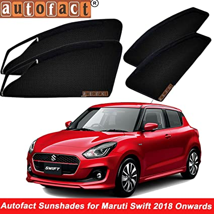 Autofact Magnetic Window Sun Shades For Maruti Suzuki Swift 2018 New