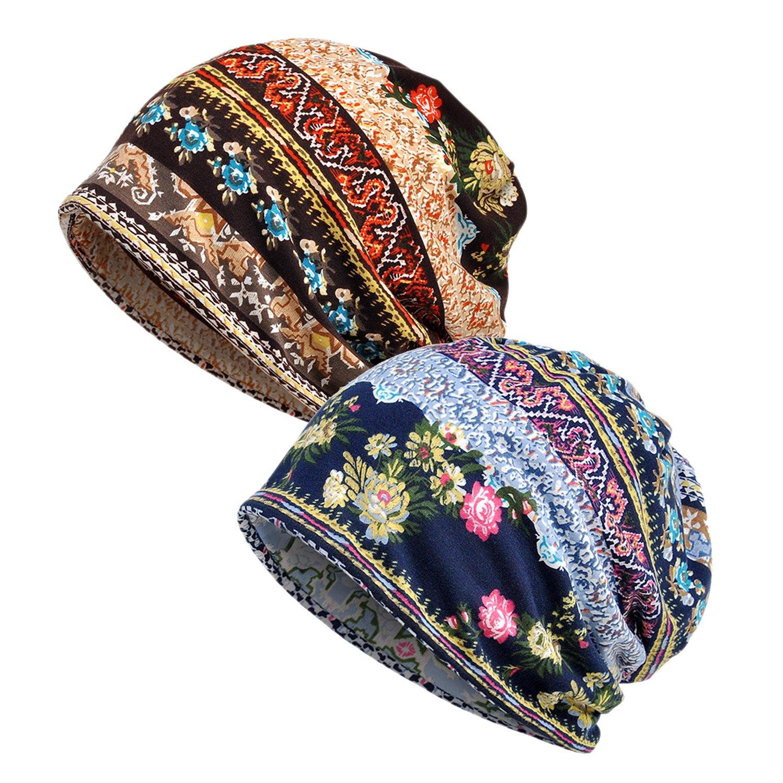 Femme Bonnets Hut Bandeaux Turban Bandanas Multi-usages 2)