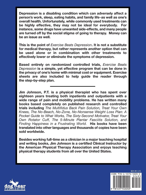 Books on physical therapy - Exercise Beats Depression Jim Johnson 9781457540202 Amazon Com Books