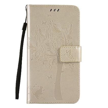 Oukety Samsung J7 Neo Funda,Carcasa PU Leather con TPU ...