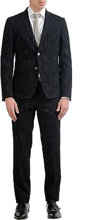 "Hugo Boss /""Arti//Hesten182/"" Men/'s 100/% Wool Gray Extra Slim Two Button Suit"