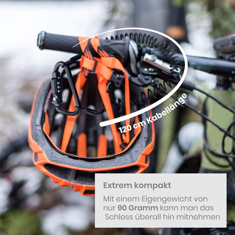 Helm Schloss Fahrrad Kabel 3-digit Fahrrad Passwort Premium Hochwertig