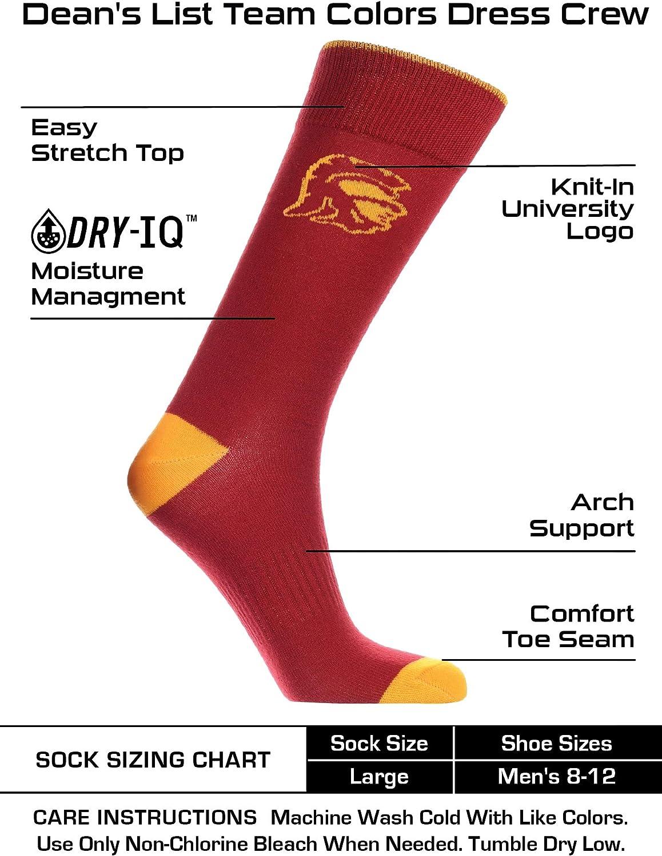 TCK Penn State Nittany Lions Dress Socks Deans List Crew Length Socks