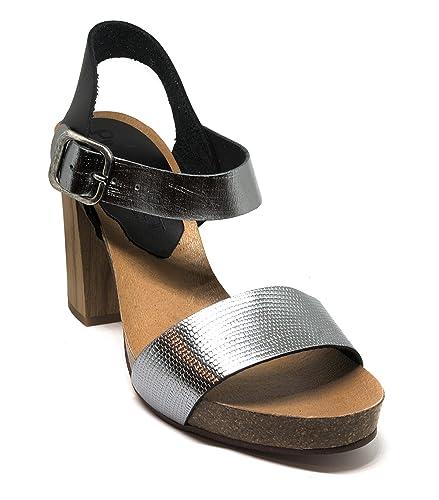 3e30e69c337 Pilar Monet - Silver Bucle Genuine Leather Sandals (37 M EU   7 B(M ...