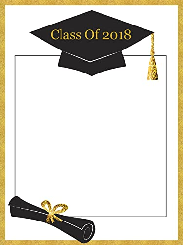 Amazon custom graduation class of 2018 photo booth frame prop custom graduation class of 2018 photo booth frame prop size 36x24 48x36 personalized solutioingenieria Image collections