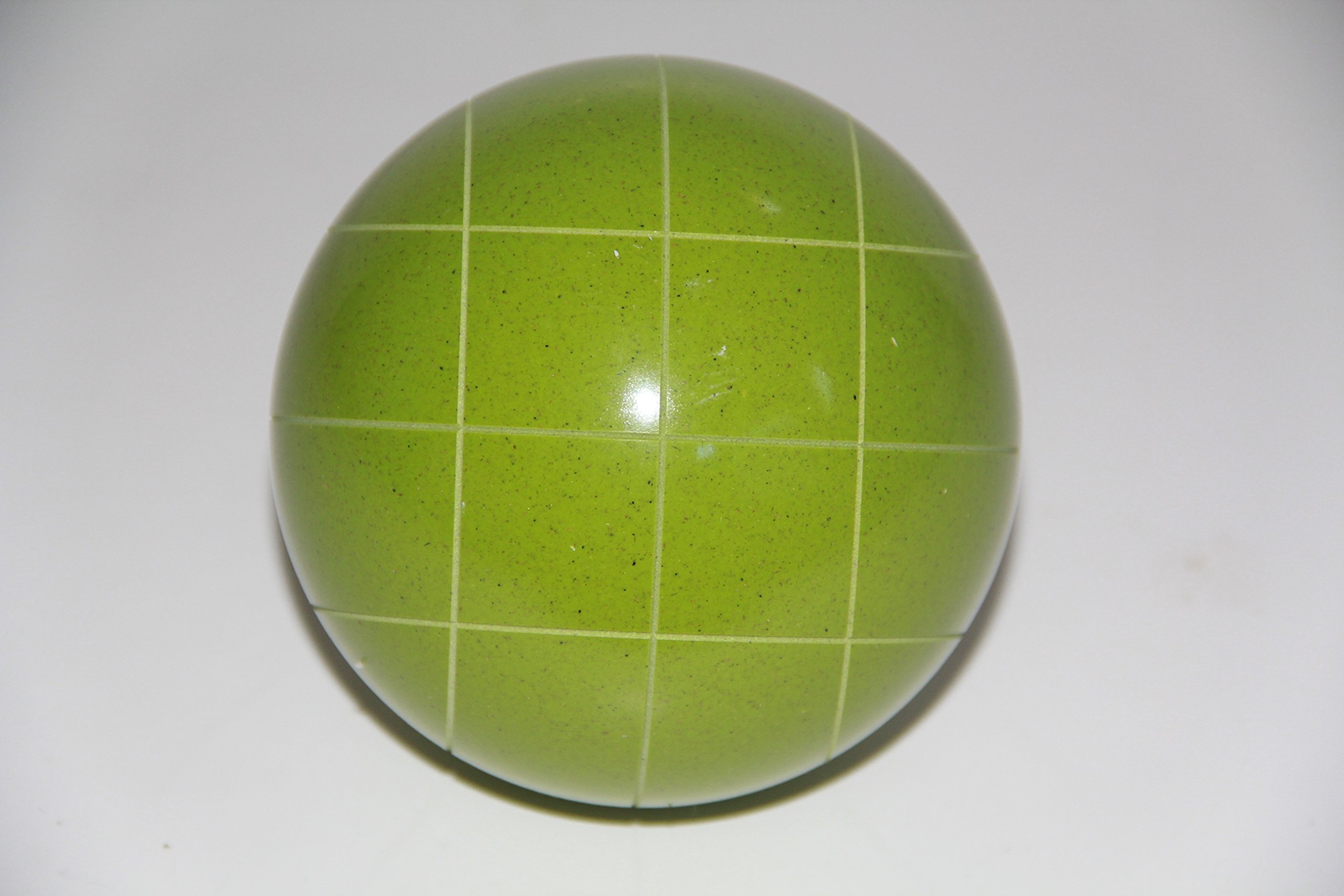 Replacement EPCO Bocce Ball with Criss Cross stripes - single RUSTIC green 110mm