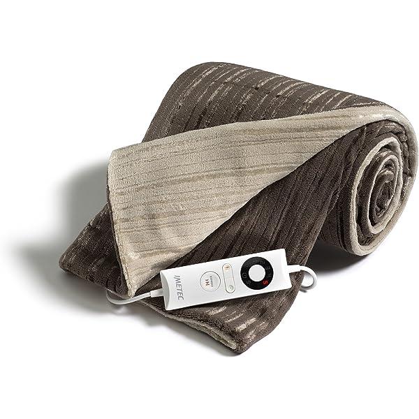 Imetec Intellisense manta eléctrica individual de 150 x 90 cm, manta eléctrica con tecnología Intellisense, microfibra suave bicolor reversible, puede lavarse en la lavadora: Amazon.es: Salud y cuidado personal