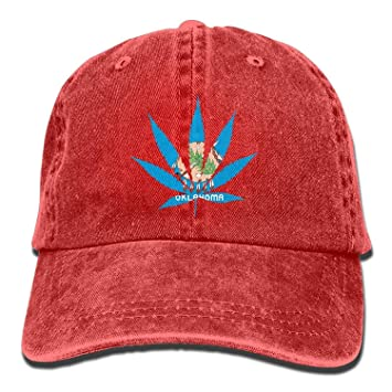 dbca0effec7 Image Unavailable. Image not available for. Color  Usvbzd Oklahoma State  Flag Weed Marijuana Dad Hat ...