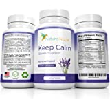 Keep Calm - Natural Stress And Anxiety Relief Supplement - Capsules Help Fight Panic Attacks & Depression - Made of Valerian, Magnesium, GABA, Vitamins With Added Melatonin for Sleep Supplement