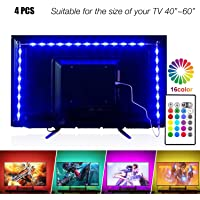 PANGTON VILLA Led Strip Lights 6.56ft for 40-60in Television USB TV Backlight Kit with Remote, 16 Color 5050, HDTV Bias Lamp