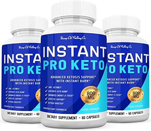 Instant Keto Boost Advanced Insta Keto Pills – Max Strength Ketogenic Supplement with BHB Ketones for Keto Diet Men and Women – 800mg 3pack
