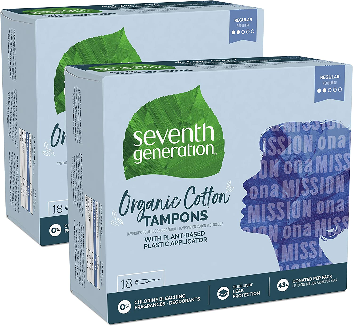 Seventh Generation Tampons with Comfort Applicator, Organic Cotton
