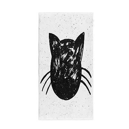 f05d4283a60e Amazon.com: Semtomn 14 x 30 Inches Bath Towel Animal Cute Cat on ...