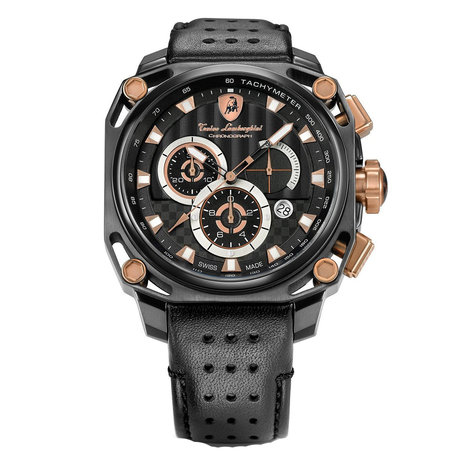 Tonino Lamborghini 4850 Black Gold 4 Screws Chronograph Watch by Tonino Lamborghini