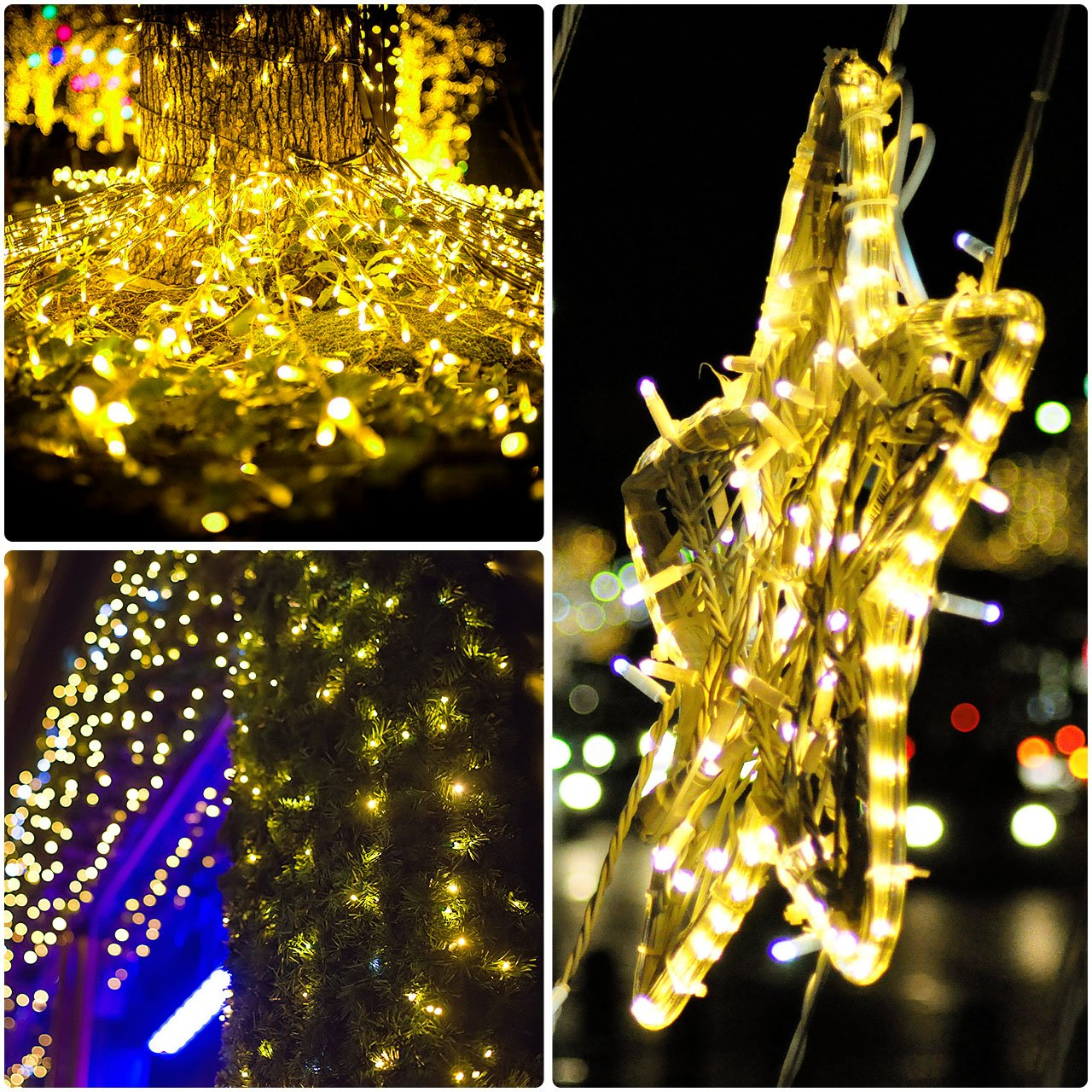 Mpow Solar String Lights 33ft 100led Outdoor Dancingledchristmaslightcircuit Waterproof Decorative For Patio Garden Gate Yard Party Wedding