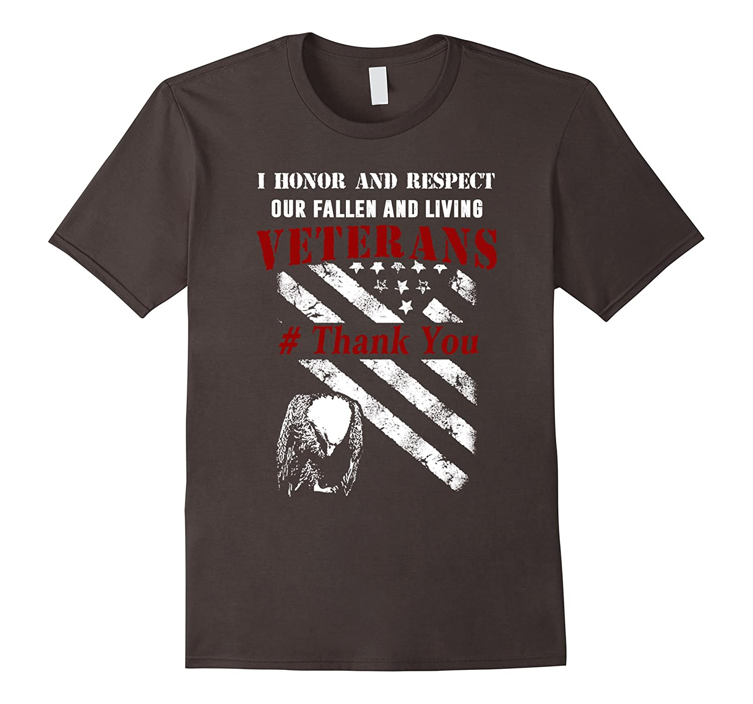 I Honor And Respect Our Fallen And Living Veterans Shirts-TD