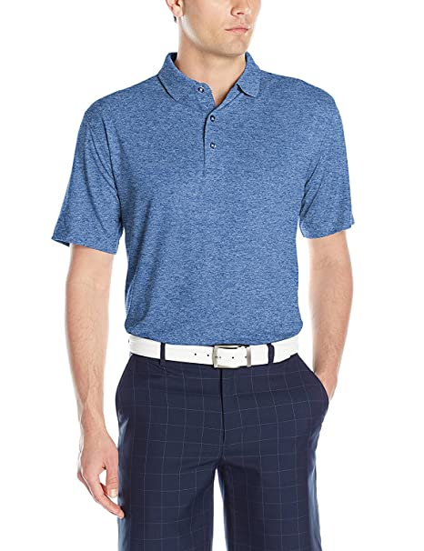 a3001fbeb2 Buy Large, Moonlight Heather : Callaway Men's Short Sleeve Opti-Stretch  Polo Tee Online at Low Prices in India - Amazon.in