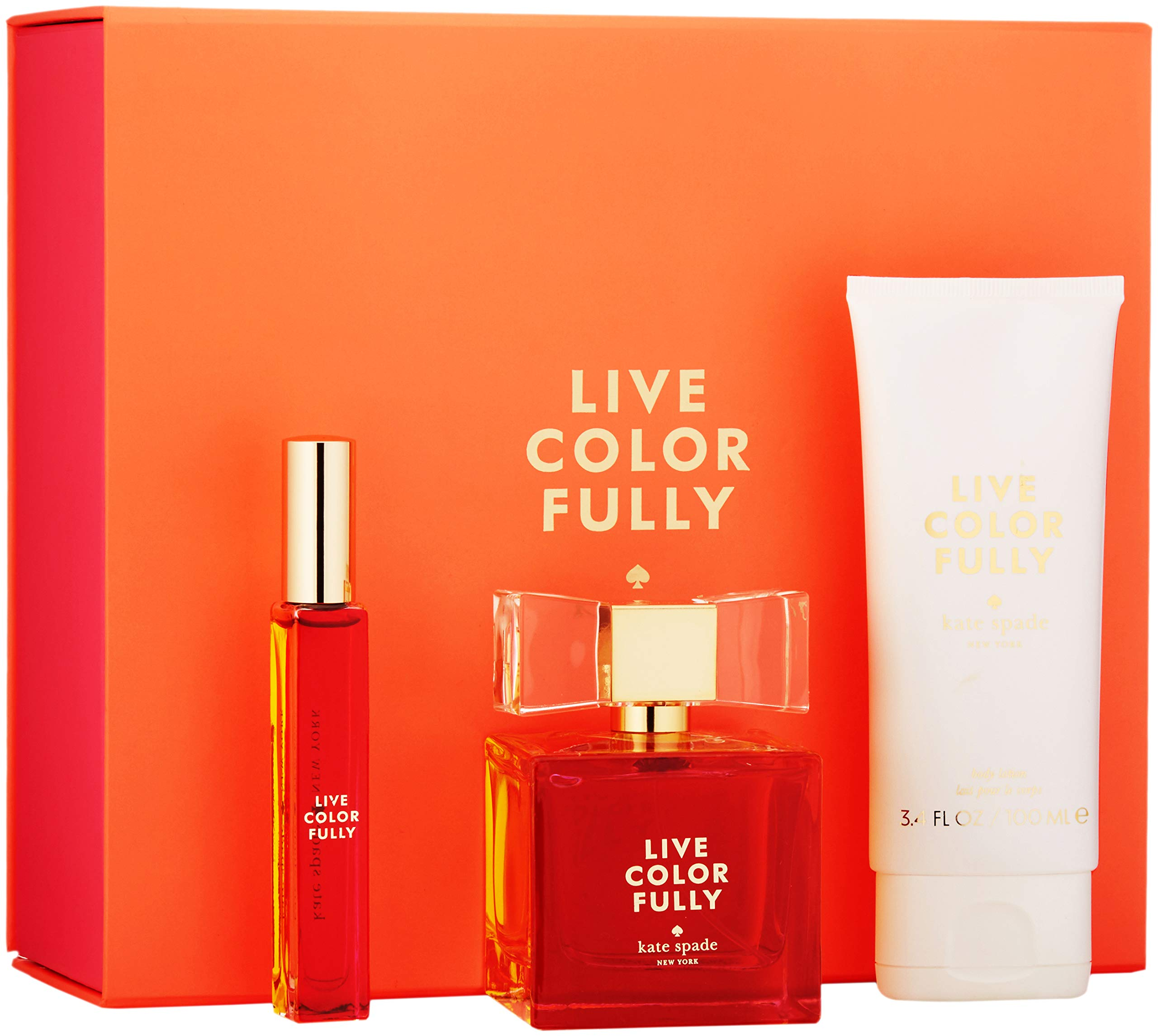 Kate Spade Live Colorfully 3 Piece Gift Set Womens Perfume