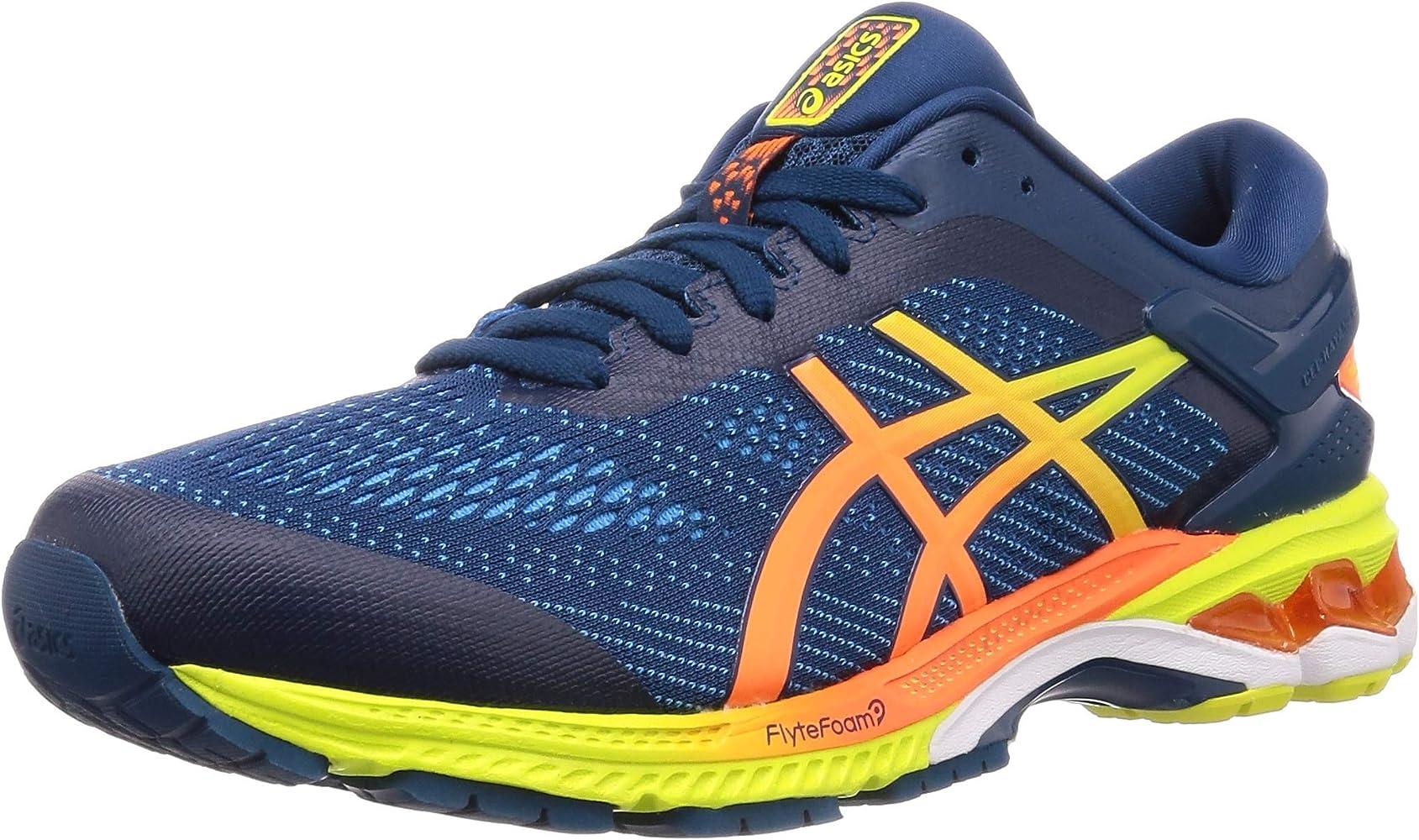 Hombres Zapatos Entrenamiento Corriendo Gel-Kayano 26 Caminar Moda Nuevo,  Azul, 12