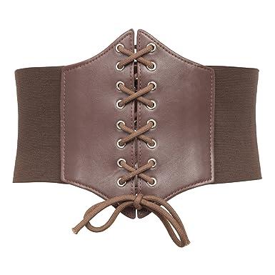 305bd22220ae0b GRACE KARIN Womens Vintage Cinch Belt Lace-up Corset Elastic ...