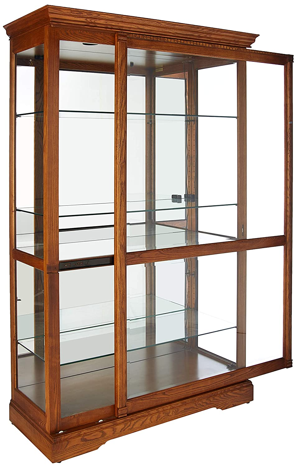 Amazon.com: Howard Miller 680 237 Parkview Curio Cabinet By: Kitchen U0026  Dining