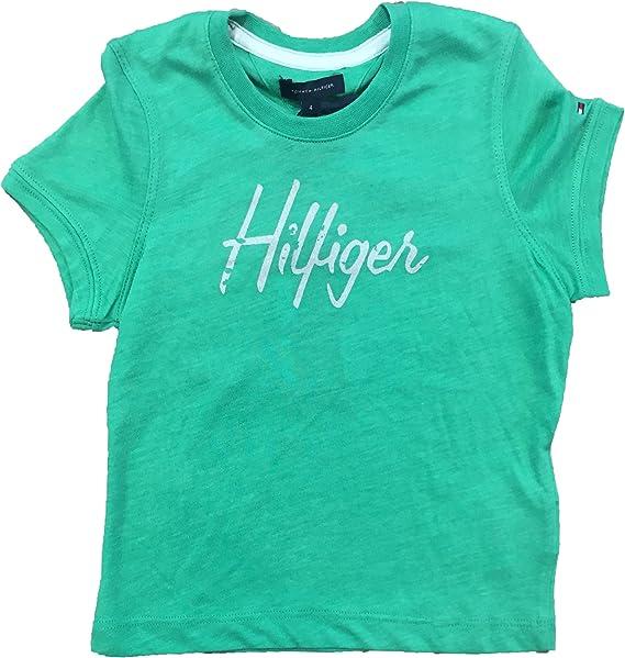 Tommy Hilfiger - Camisa Manga Corta Verde: Amazon.es: Ropa y accesorios
