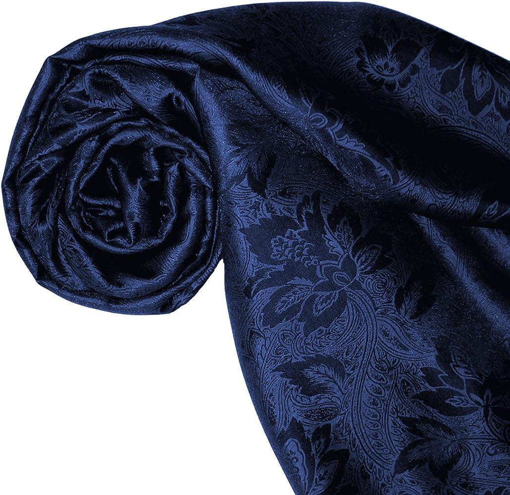 Lorenzo Cana Foulard damas pour la femme /él/égant et l/éger pour le printemps et l/´/ét/é en bleu fonc/é saphir ultramarine motif de fleurs /écharpe noble avec les mesures de 55 x 190 cm