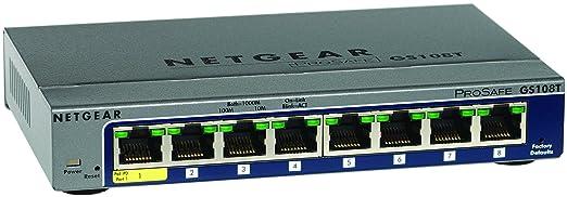 68 opinioni per Netgear GS108T-200GES ProSafe Switch