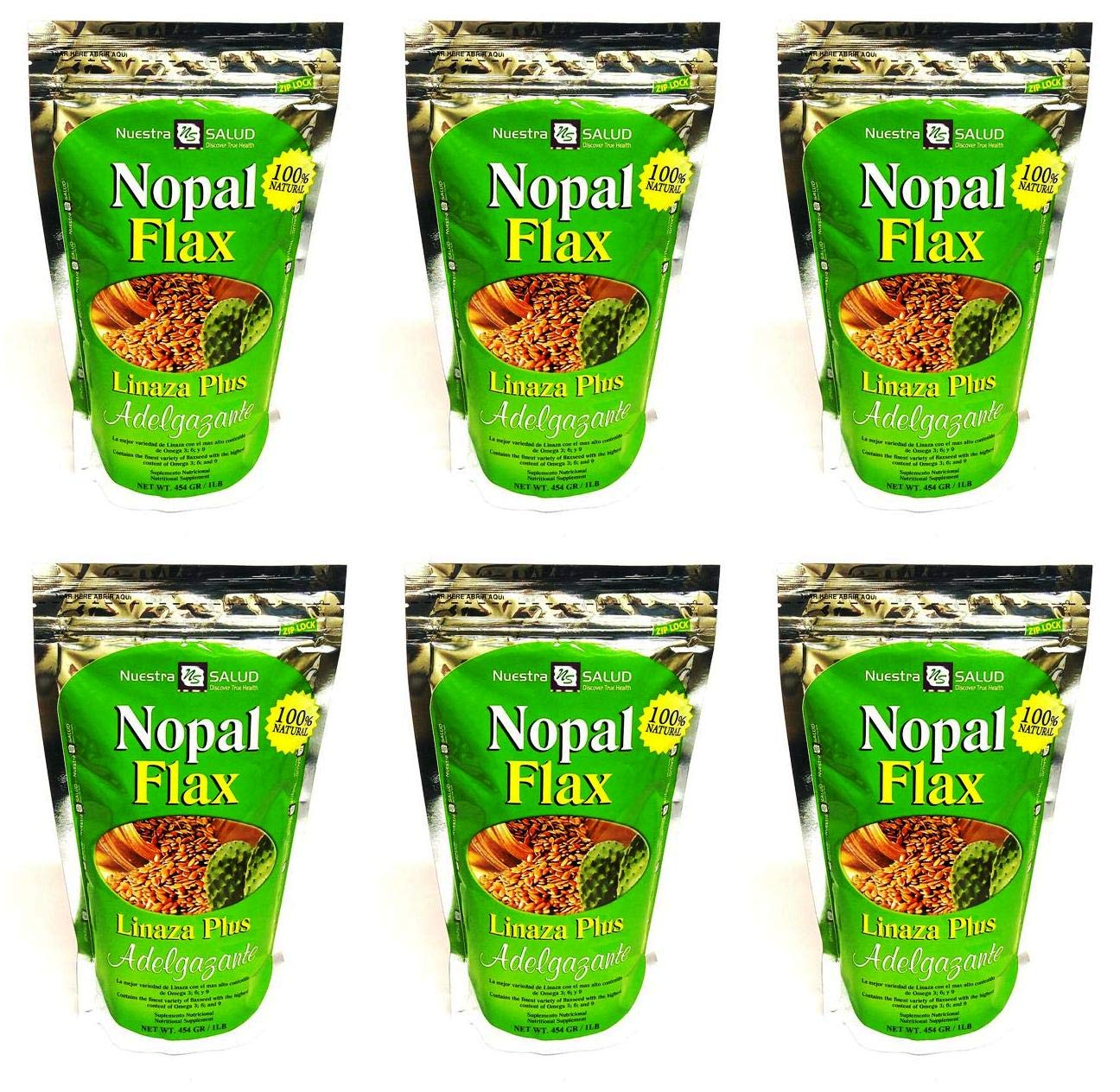 Nopal Flax Adelgazante Linaza Plus Value 6 pack