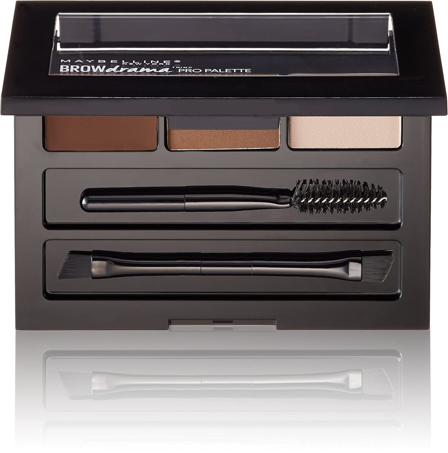 Maybelline New York Brow Drama Pro Eye Makeup Palette, Soft Brown, 0.1 Ounce MABROWPL2