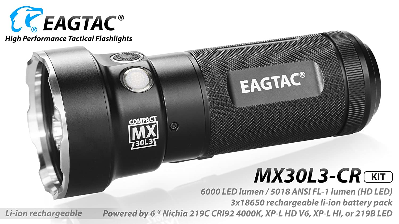 EagTac MX30L3-CR LED Taschenlampe CREEE XP-L HD 5018 Lumen Kit