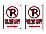 The King Kush No Parking Between Signs Sign - 8 x
