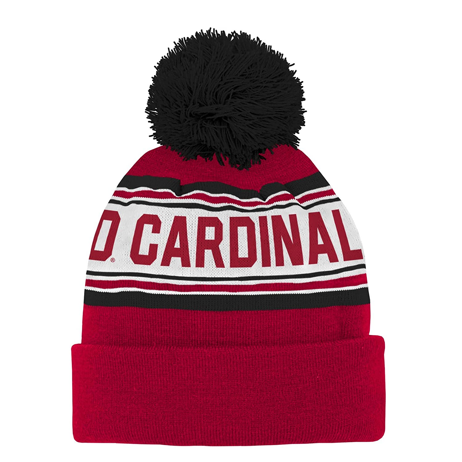 Toddler NCAA Stanford Cardinal Toddler Outerstuff  Jacquard Cuffed Knit Hat with Pom Team Color