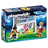 Playmobil 6858 Sports and Action Football Shooting Practice Playset with 2 Players