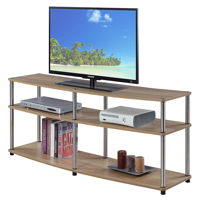 Convenience Concepts 131060LO Designs2Go 3-Tier TV Stand, 60 , Light Oak