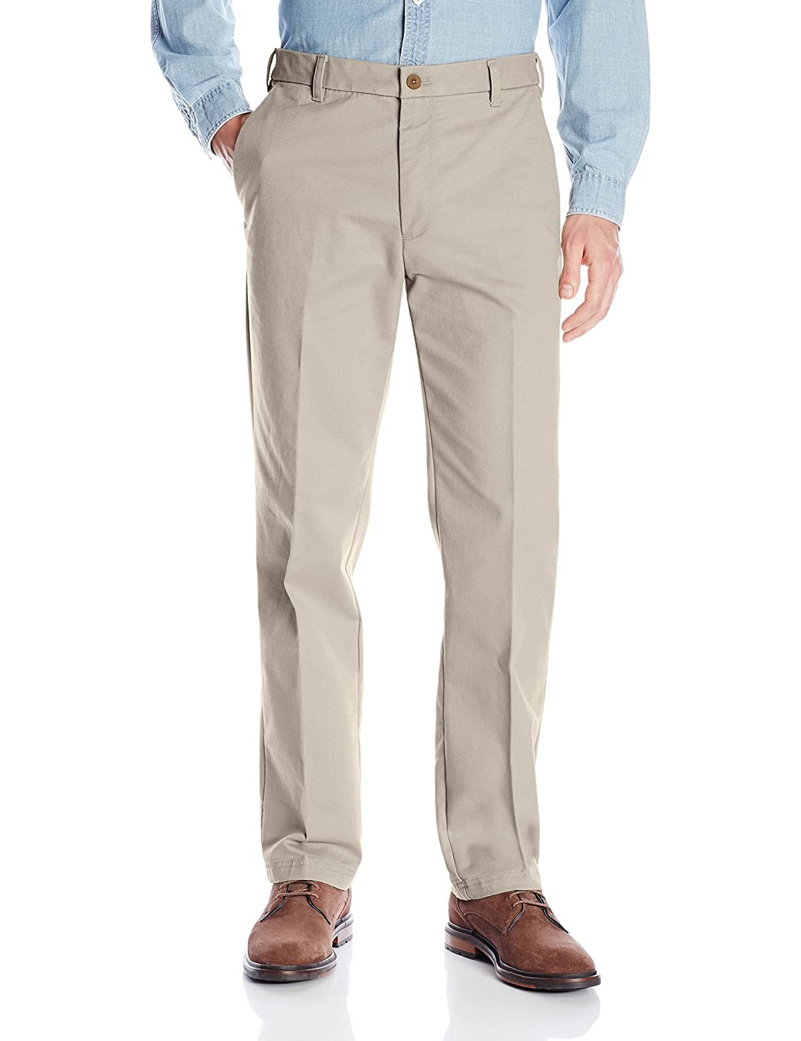 Straight Fit Men's Chino Izod Performance Flat At Front Stretch Pant 7Oantqnw
