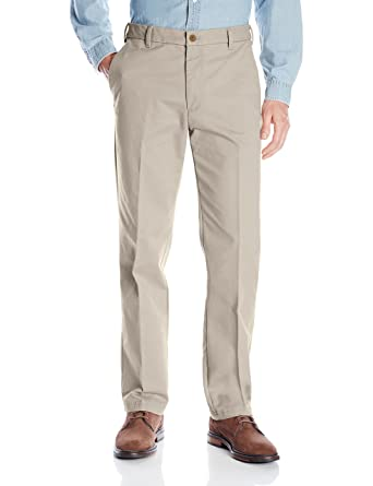 1803230d524dfb IZOD Men's Performance Stretch Straight Fit Flat Front Chino Pant, Warn  Pearl, 29W x