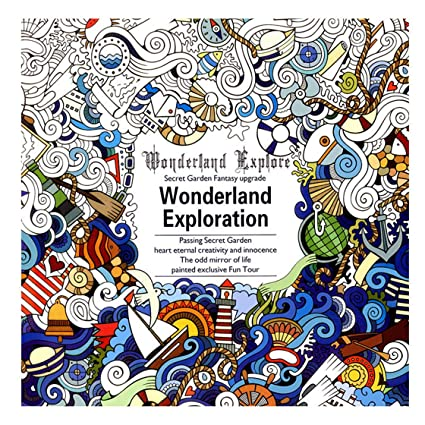 UNKE Secret Garden Graffiti Paperback English Wonderland Exploration Painting Book Coloring Books