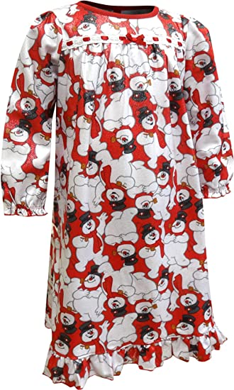 Frosty The Snowman Flannel Granny Nightgown Pajama Girls Toddler /& Baby