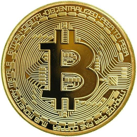 1 x Chapado en oro Bitcoin Coin coleccionable BTC moneda coleccion ...