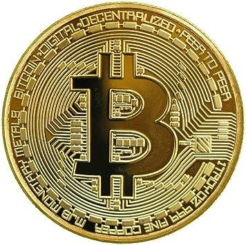 1 x Chapado en oro Bitcoin Coin coleccionable BTC moneda coleccion de arte regalo físico: Amazon.es: Hogar