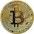 1 x placcata d'oro bitcoin moneta da collezione btc moneta collezione d'arte dono fisica
