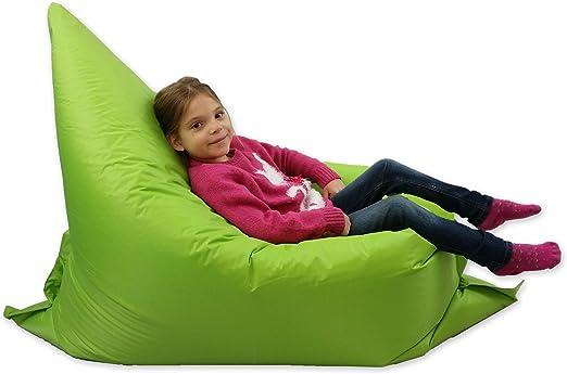 MaxiBean Puf para niños, Tumbona para jardín, Grande, de 6 Posiciones, pufs Gigantes para niños para Exteriores, cojín para el Suelo, de Color Verde Lima, 100 % Impermeable: Amazon.es: Juguetes y juegos